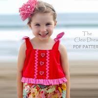 Cleo Girls Dress pattern - via @Craftsy