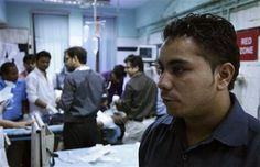 Nasr's @AP story + #photos on bouncers protecting doctors at a #hospital in India.