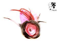 Headpieces & Fascinators - Fascinator Julietta altrosa & creme-braun - ein Designerstück von billies bei DaWanda