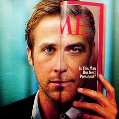 Ryan Gosling & George Clooney.