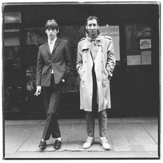 Paul Weller and Pete Townshend outside the MArquee Club.