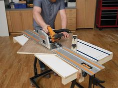 Create repeatable crosscut precision for a track saw with this shop project. Woodworking workshop project with instructional images, videos and text.