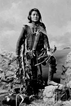 Manuelito Segundo, the son of Manuelito and Juanita - Navajo - 1874 - Photographer unidentified. (B/w copy)