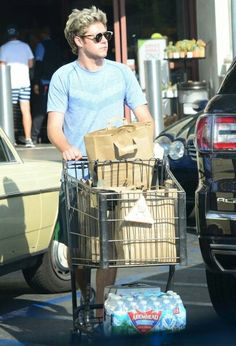 My Sweet Niall has gone grocery shopping.  He just takes my breath away.