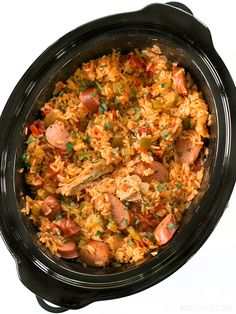 Cooker Jambalaya Slow Cooker Jambalaya has all the big flavor of the classic Louisiana dish with half the effort. Slow Cooker Jambalaya has all the big flavor of the classic Louisiana dish with half the effort. Crock Pot Recipes, Healthy Crockpot Recipes, Crockpot Meals, Chicken Recipes, Crockpot Dishes, Chicken Jambalaya Recipe Crockpot, Easy Jambalaya Recipe, Chicken And Sausage Jambalaya, Slow Cooking