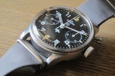 FS: Lemania Royal Navy one pusher chronograph 1950's
