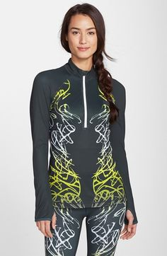 Zella+Scroll+Print+Half+Zip+Pullover+available+at+#Nordstrom