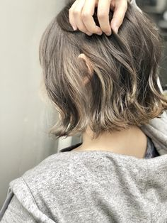 【STILL un label】インナーカラーグラデーション☆グレージュ/STILL un label ヘア&スパ 【スティルアンレーベル】をご紹介。2019年冬の最新ヘアスタイルを300万点以上掲載!ミディアム、ショート、ボブなど豊富な条件でヘアスタイル・髪型・アレンジをチェック。 Girls Short Haircuts, Cute Haircuts, Summer Hairstyles, Girl Hairstyles, Gray Hair Highlights, Hair Arrange, How To Make Hair, Hair Looks, Hair Inspo