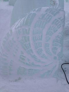 Isskulptur, is, snø