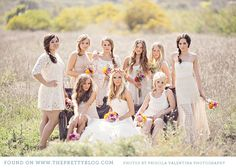 I like the concept. not your average group wedding party photo