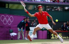 Roger Federer battles past Juan Martin Del Potro. 36 76(5) 19-17 to reach the Gold Medal match at the Olympic Games. What an incredible match! Photo: Getty Images
