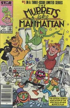 Muppets Take Manhattan Marvel/Star Comics) comic books Children's Comics, Star Comics, Hits Movie, Movie Tv, Jim Henson, Vintage Comics, Comic Covers, Manhattan, Comic Books