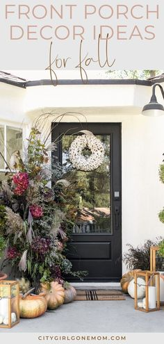 fall front porch decor To help you update your home for fall, we gathered together some of our favorite looks to inspire your own seasonal front porch decor. Fall Home Decor, Autumn Home, Diy Home Decor, Holiday Decor, Seasonal Decor, Porch Wall, Rustic Farmhouse, Farmhouse Front, Rustic Wood