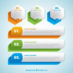 Set of colorful infographic banners Free Vector Infographic Template Powerpoint, Powerpoint Template Free, Powerpoint Presentation Templates, Ppt Template Design, Id Card Template, Web Design, Web Banner Design, Concept Web, Creative Banners