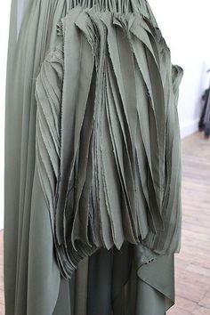 Texture - raw edges and layers of fabric; fabric manipulation for fashion // Maison Rabih Kayrouz