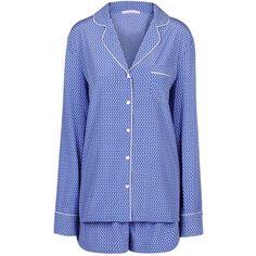 Stella Mccartney Olivia Sleeping Pyjama Set ($395) ❤ liked on Polyvore featuring intimates, sleepwear, pajamas, pale blue, stella mccartney, polka dot pajama set, polka dot pjs, polka dot sleepwear and polka dot pajamas