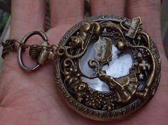 Alice in Wonderland Locket Watch by sweethearteverybody