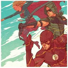 Supergirl, Green Arrow and Flash
