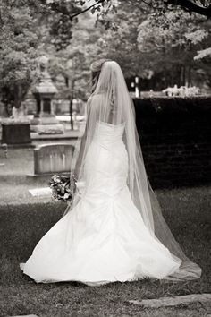 Gorgeous, Although Simple, Chapel Length Bridal Veil****