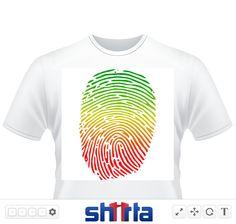 """""""Reggae Fingerprint"""" Fingerabdruck im Reggae Style"""
