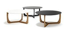 Table basse ronde en bois Scandinave vendue par My Deco Shop.