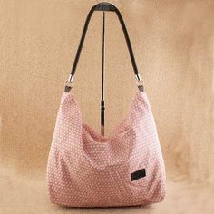 Pink seduction  Etsuko - Ladies fashion pink hobo handbag