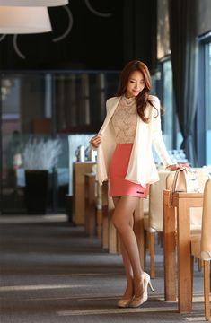 Korean Women`s Fashion Shopping Mall, Styleonme. Korean Fashion Trends, Asian Fashion, Girl Fashion, Fashion Outfits, Womens Fashion, Fashion Design, Fashion Tips, Traje Casual, Beautiful Asian Women