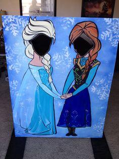Elsa and Ana photo prop