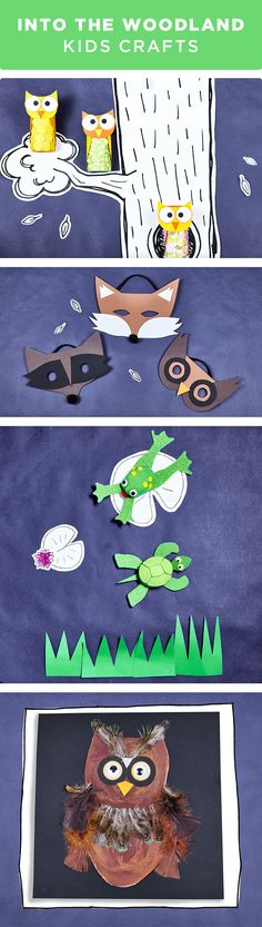 Kids can craft woodland creatures with these fun and simple projects. From frogs and turtles to cardboard owls and felt fox masks, these projects will keep your child's mind creative during summer break. Get everything you need to make these projects at your local Michaels store.
