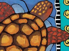 Save The Sea Turtle art print for children by faraharia on Etsy, $20.00