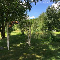 birch arbor by Floral Artistry, Vermont wedding flowers, Stowe wedding flowers