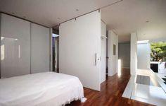 portas de correr do piso ao teto estilo embutida