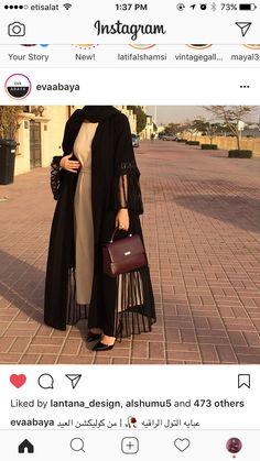 Very stylish abaya Iranian Women Fashion, Islamic Fashion, Muslim Fashion, Mode Outfits, Fashion Outfits, Fasion, Abaya Designs Latest, Wedding Abaya, Abaya Mode