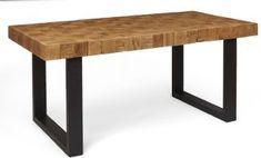 Boston Industrial Rectangular Mosaic Dining Table