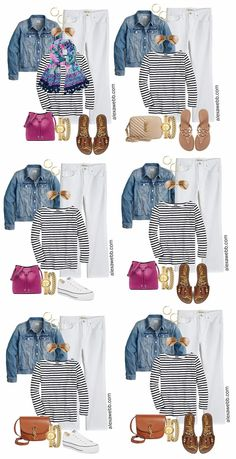 Plus Size Capsule Wardrobe, Denim Tees, Casual Outfits, Cute Outfits, Work Outfits, Mature Women Fashion, Stitch Fix Outfits, Outfit Combinations, White Denim