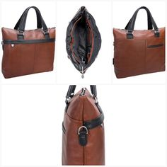 McKlein Leather Two-Tone Laptop & Tablet Briefcase - LuggageDesigners Laptop Bags, Online Bags, Briefcase, Sling Backpack, Elegant, Store, Leather, Dapper Gentleman, Tent