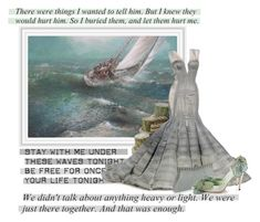 """""""Art work 1: The quotes of the sea"""" by dixiebelle81 ❤ liked on Polyvore featuring Zac Posen and Manolo Blahnik"""