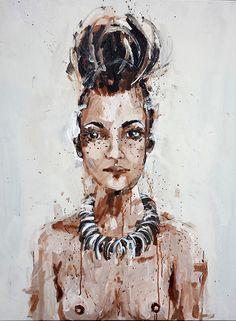 Lucie 100x80 Antonio Mora, Paintings, Artwork, Work Of Art, Painting Art, Painting, Painted Canvas, Drawings, Resim