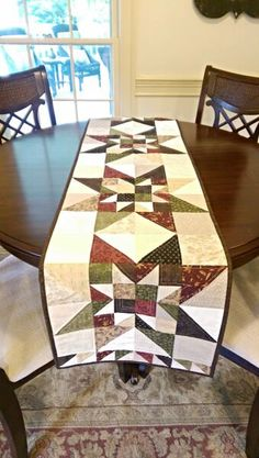 Primitive Fall Quilt Pattern Table Runner Wall Hanging PDF Star Summer Scrappy…
