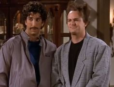 The one with the Flock of Seagulls hairdo. | Chandler Bing's 19 Most HeinousOutfits. I LOVE HIM.