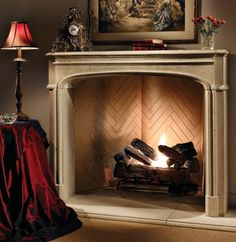 Decoration, Antique Fake Fireplace Mantel Red Living Room Decor Themes And Living Room Light Fixtures Design Ideas For Living Dining Room Combo: Attractive Fireplace Mantel Decorating Ideas 2015 Style