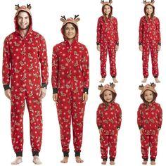3e02d4dd6c Hot Sale Adult Kids Family Matching Pajamas Set Deer Hooded Sleepwear  Nightwear  fashion  clothing