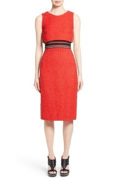 Main Image - Oscar de la Renta Popover Sheath Dress