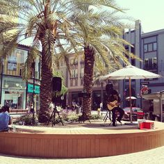 Enjoying live music at Santana Row!