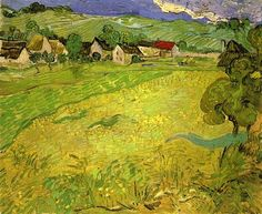 Vincent van Gogh Painting, Oil on Canvas Auvers-sur-Oise: May, 1890 Museo Thyssen-Bornemisza Madrid, Spain, Europe F: JH: 2003 Image Only - Van Gogh: View of Vessenots Near Auvers Vincent Van Gogh, Van Gogh Landscapes, Landscape Paintings, Van Gogh Arte, Van Gogh Pinturas, Van Gogh Paintings, Art Van, Van Gogh Museum, Dutch Painters