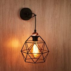 Edit Galaxy Wall Light from Lighting Direct. Delivered direct to your door - Buy online today Industrial Wall Lights, Direct Lighting, Steel Wall, Shades Of Black, Bird Cage, Bulb, Ceiling Lights, House, Home Decor