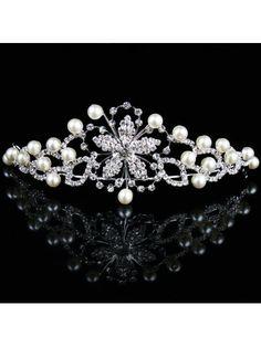 Beauitful Pearls and Rhinestones Wedding Bridal Tiara