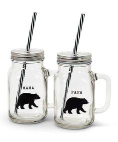 Abbott Glass Mama & Papa Bear Lidded Mug - Set of Two | zulily