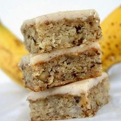 Monkey Squares - These Monkey Squares are soft and moist banana bread bars with browned butter frosting,,..