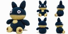 """This week's Free Pattern Friday pattern is a 6"""" tall amigurumi of Munchlax from Pokemon. The pattern is available on Ravelry or you can f..."""